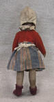 Netherlands Antique Dutch Doll Wearing White Cap and Apron (Back View)