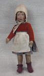 Netherlands Young Girl Wearing Dutch Cap and White Apron (Full View)