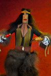 Nevada Handcrafted Kachina Native American Doll Made with Cottonwood, Fur, Feathers, and Shells (Close Up)