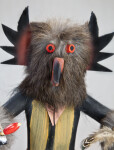 Nevada Kachina Doll of Owl Dancer with Removable Mask (Close Up)