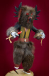 Nevada Wooden Indian Doll with Removable Owl Mask (Full View)