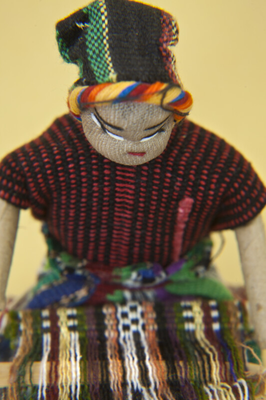 New Mexico Handcrafted Navajo Indian With  Embroidered Facial Features (Close Up)