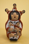 New Mexico Storyteller Pottery with Woman, Five Children, and a Dog (Full View)