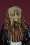 New York Carving of Rabbi's Face with Beard, Payots, and Mustache (Close Up)