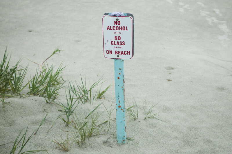 """No Alcohol"" Sign"