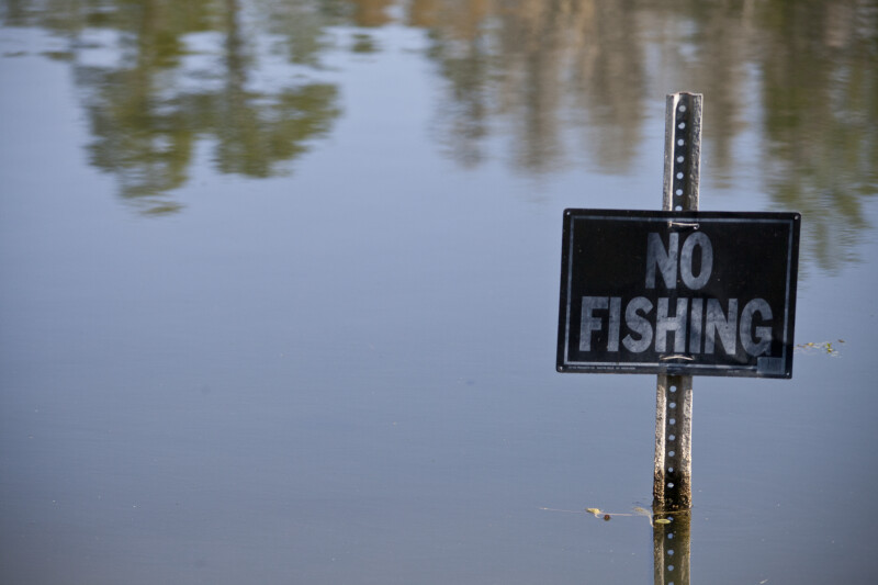 """No Fishing"" Pond"
