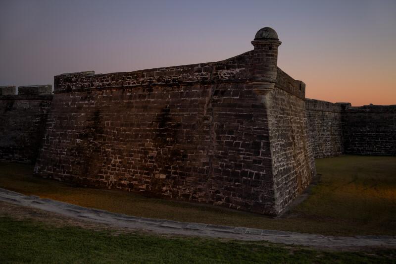 Northwest Corner of Castillo de San Marcos