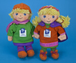 Norway Boy and Girl Mascot Dolls for the 17th Winter Olympics in Lillehammer (Full View)