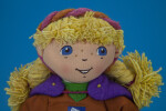 Norway Fabric Girl Doll as a Mascot for the 17th Winter Olympics in Lillehammer (Close Up)