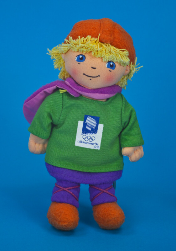Norway Fabric Male Mascot Doll for Norwegian Winter Olympics in 1994 (Full View)
