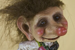 Norway Female Troll Doll with Marble-Like Eyes (Close Up)