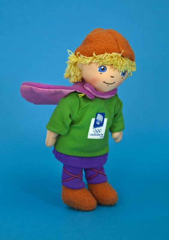 Norway Hakon, the Boy Mascot for the Lillehammer Winter Olympics (Three Quarter View)