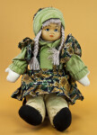 Norway Stuffed Figure of Female Doll with Braids (Full View)