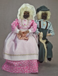 Nova Scotia Hand Made Man and Woman with Apple Heads (Full View)