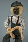 Nova Scotia Male Doll with Applehead Who is Holding a Fisherman's Net (Three Quarter Length)