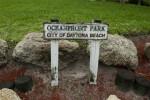 Oceanfront Park Sign