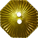 Octagonal Button with Radiating Lines, Gold