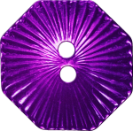 Octagonal Button with Radiating Lines, Purple