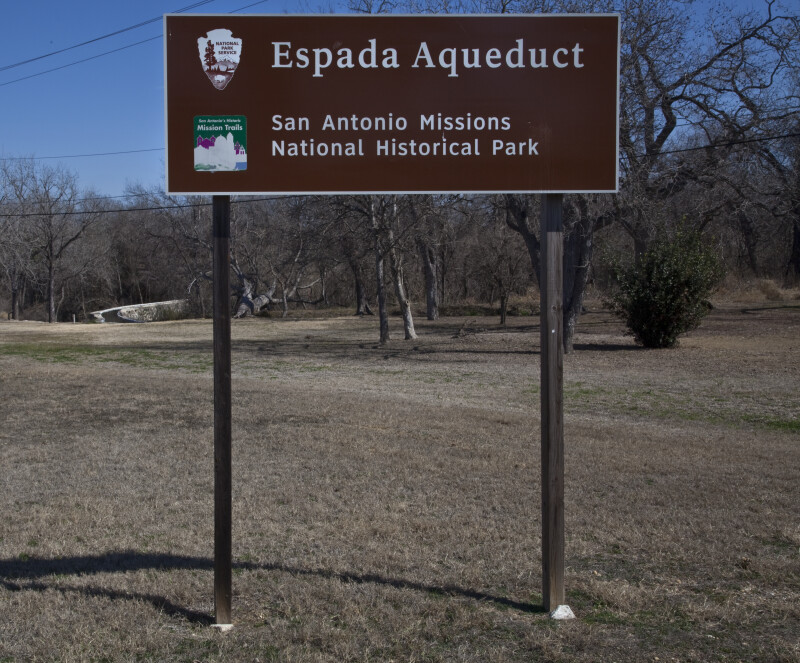 Official Sign for the Espada Aqueduct