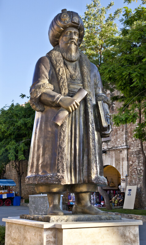 Öküz Kara Mehmed Paşa Bronze Statue in Kusadasi, Turkey