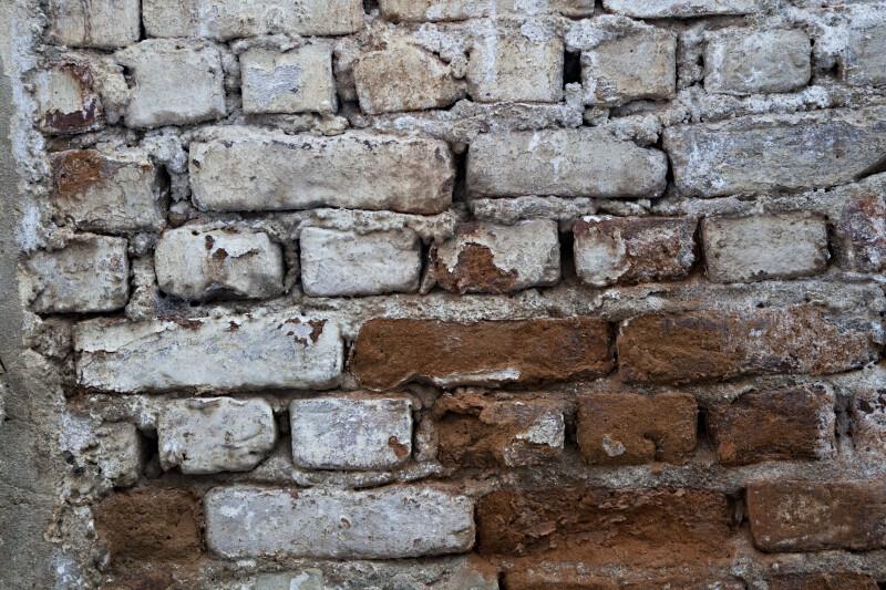 Old Brick Wall in Kusadasi, Turkey