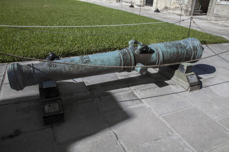 Old Cannon in the Court of Castillo de San Marcos