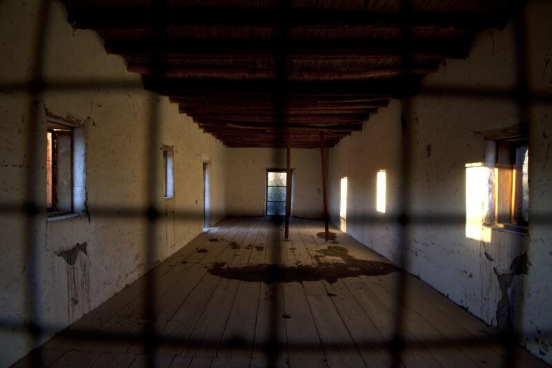 Old Castolon Store Interior as Seen Through Wire