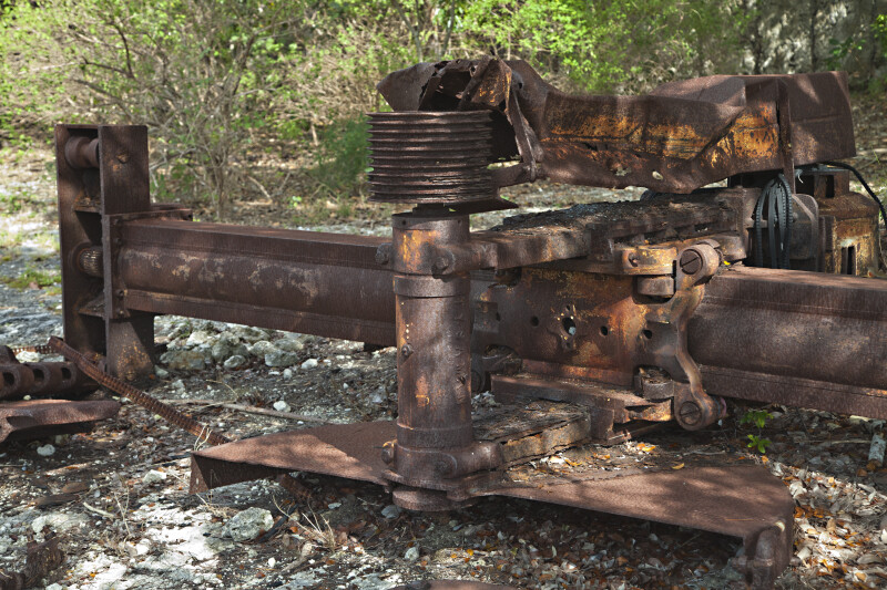 Old Machinery at Windley Key Fossil Reef Geological State Park