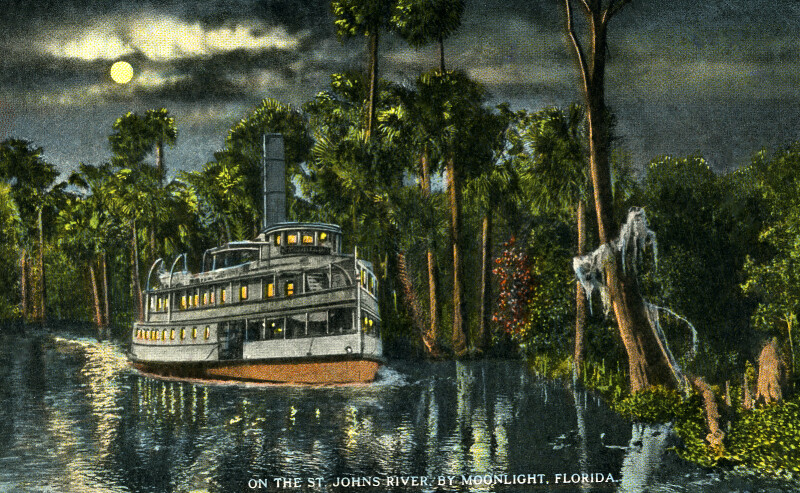 On the St. Johns River, by Moonlight