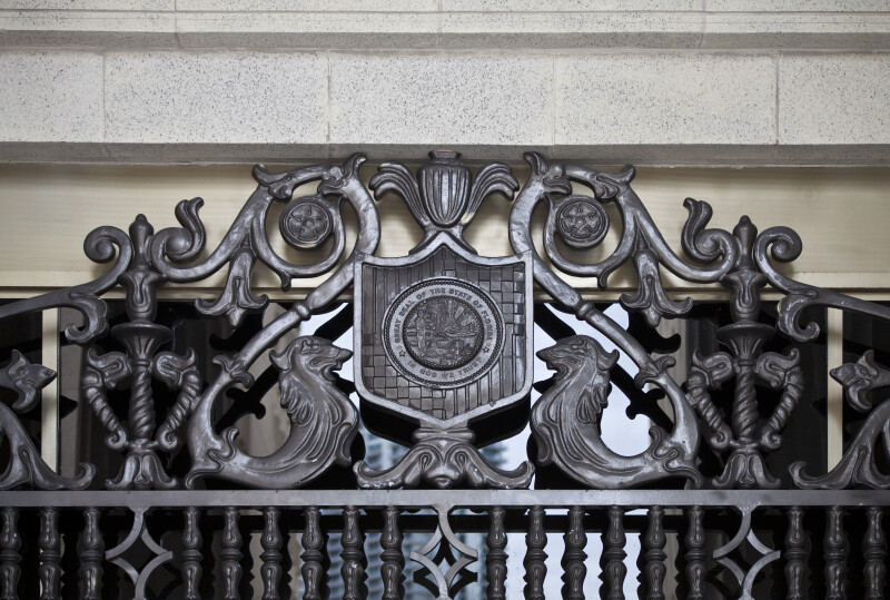 Ornate Security Bars Covering a Window