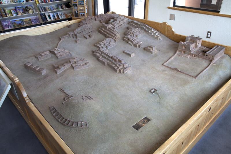 Overview of The Model of Quarai at the Quarai Ruins