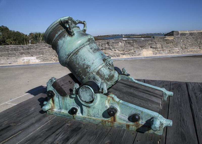 Oxidized, Bronze, 15-Inch Mortar Constructed in 1724
