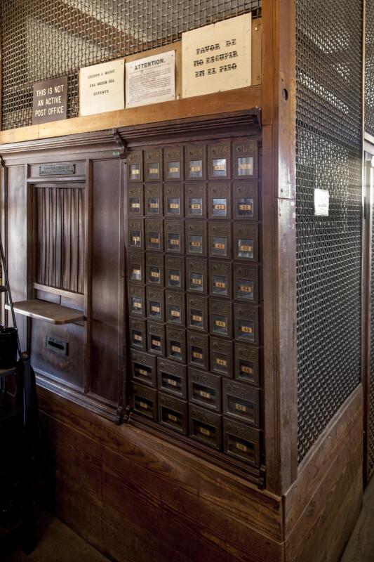 P.O. Boxes in the Castolon Store