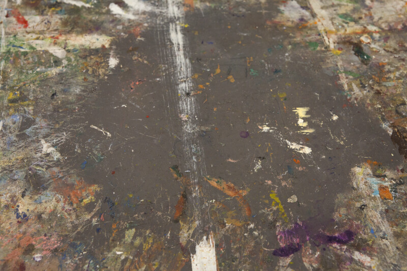 Paint on a Studio Floor