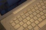Paint Splattered on a MacBook Keyboard