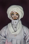 Pakistan Handmade Male Figure Dressed in Traditional Turban (Close Up)