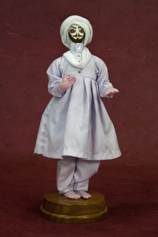 Pakistan Male Doll Wearing the Traditional Shalwar (Full View)