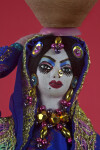 Pakistani Lady Figurine with Veil  (Close Up)