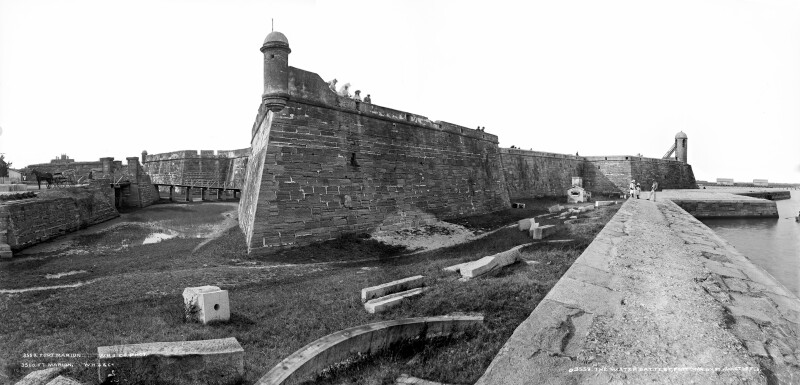 Panorama of Fort Marion from Water Battery