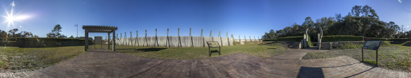 Panorama Photo from the Center of Fort Caroline