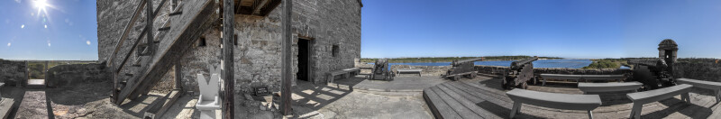 Panorama Photo from the Fort Matanzas Gundeck