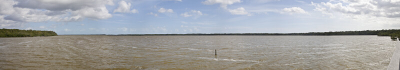 Panoramic View of West Lake at Everglades National Park