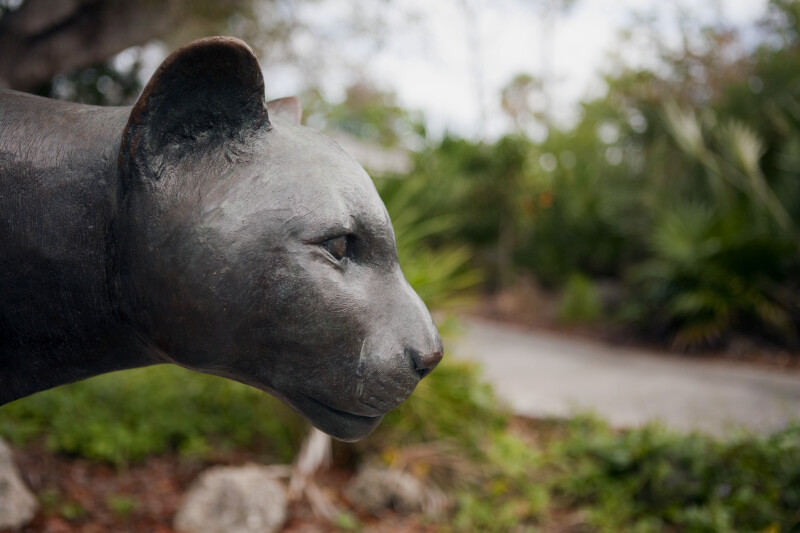 Panther Statue Head