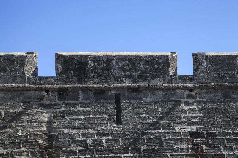 Parapet Above Main Wall of Castillo de San Marcos