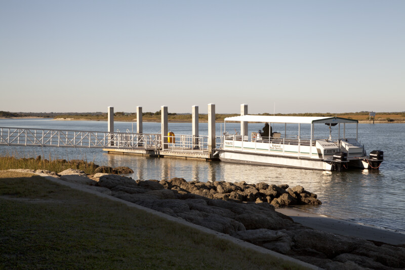 Passenger Ferry and Boat dock at Fort Matanzas