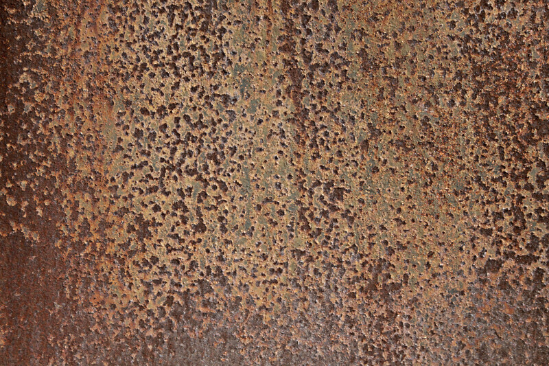 Patterned, Rusted Metal at Windley Key Fossil Reef Geological State Park