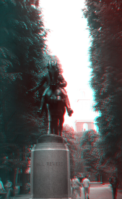 Paul Revere on Horseback, from front, close view