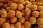 Peaches on Display at an Outdoor Market in Kusadasi
