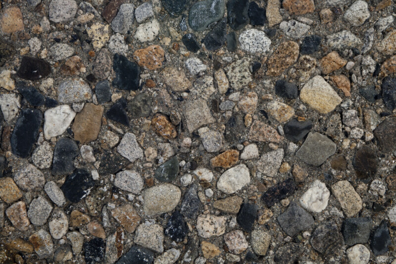 Pebble Pavement Close-Up