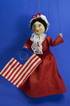 Pennsylvania Marionette or Puppet of Betsy Ross with Colonial Flag (Full View)